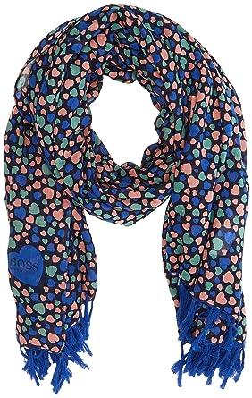 445dd86d2e70 BOSS Naheart, Echarpe Femme, Multicolore (Open Miscellaneous 991), Unique ( Taille