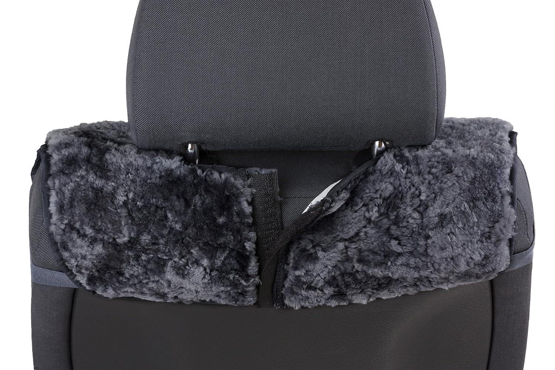 Walser 20069 Protector de asiento de cordero Vogue Negro 16 - 18 mm de altura, negra: Amazon.es: Coche y moto