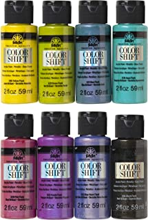 product image for FolkArt Color Shift Glossy Metallic Finish Acrylic Craft Paint Set Designed for Beginners and Artists, Non-Toxic Formula Perfect for Indoor and Outdoor Projects, 2 oz, 8 Fl Oz