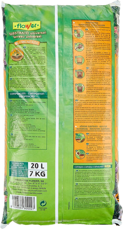 Flower - Sustrato blumenerdep, 1 x 20L: Amazon.es: Jardín