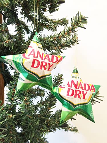 canada dry ginger ale soda can stars recycled aluminum pop can stars upcycled coke - Recycled Christmas Ornaments
