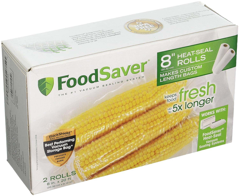 """FoodSaver 8"""" X 20' Heat-Seal Rolls - 1 Box of 2 Rolls"""