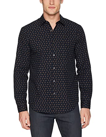 073edba43 Amazon.com: Theory Men's Irving Crown Print Long Sleeve Woven: Clothing