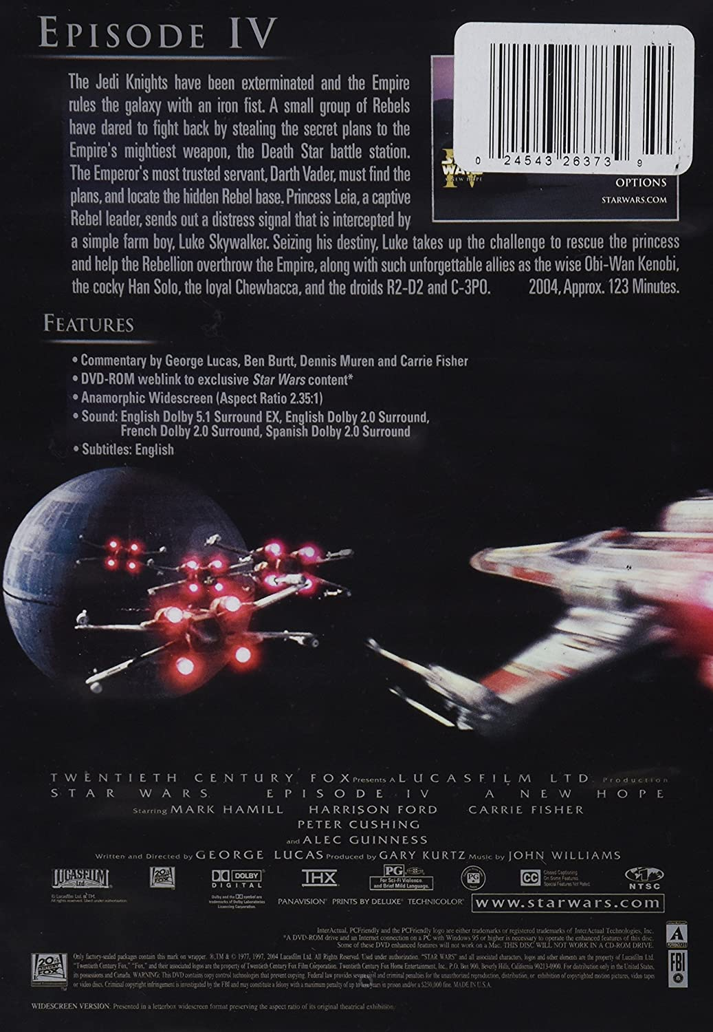 Star Wars IV: A New Hope [DVD]: Amazon.es: Mark Hamill ...