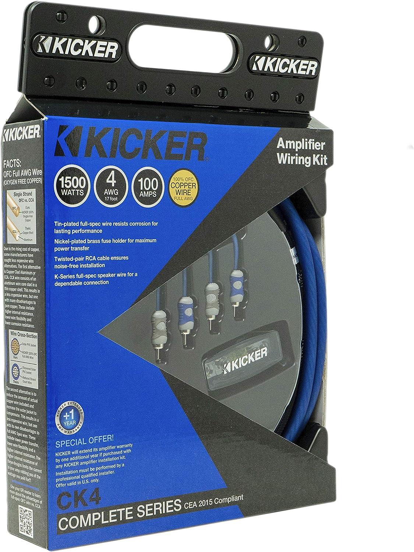 Amazon.com: Kicker 46CK4 Car Audio 4 Gauge 2 Channel - Mono Amp Amplifier  Install Kit CK4: Car ElectronicsAmazon.com