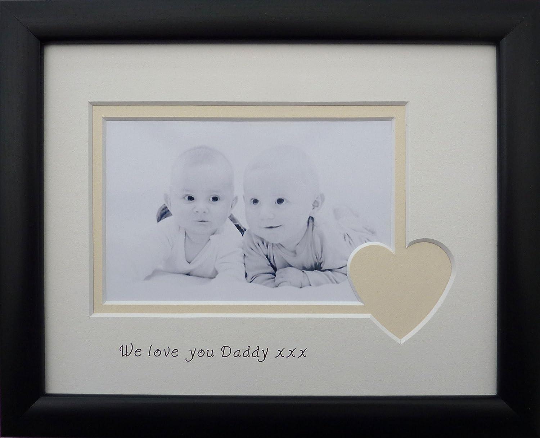 Personalised \'We love you\' photo frame 9 x 7, Black: Amazon.co.uk ...
