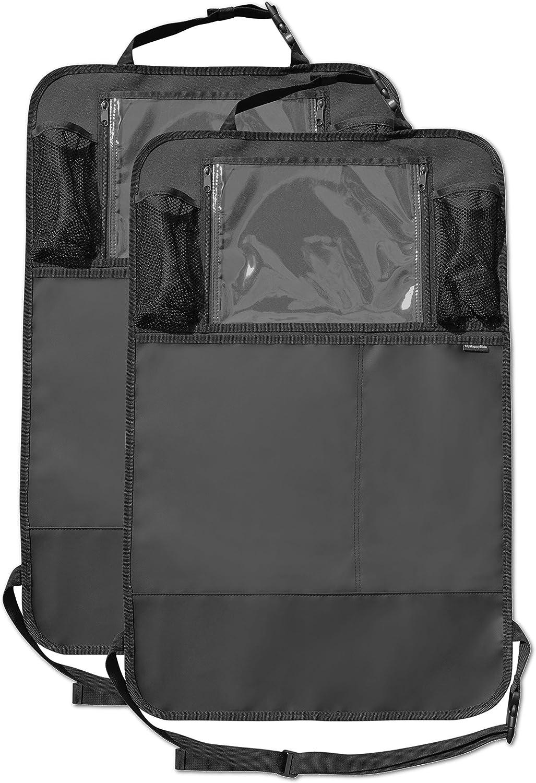 con chiaro supporto per iPad // tablet e grandi tasche per organizzatori Protezione sedile posteriore Protezione impermeabile per tappezzatrici per bambini pacco da 2