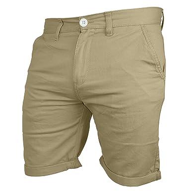 2e947c129261 Herren Chino Shorts Freizeitstil Bermuda Kurze Hose 100% Baumwolle Slim Fit  (30 (Taille
