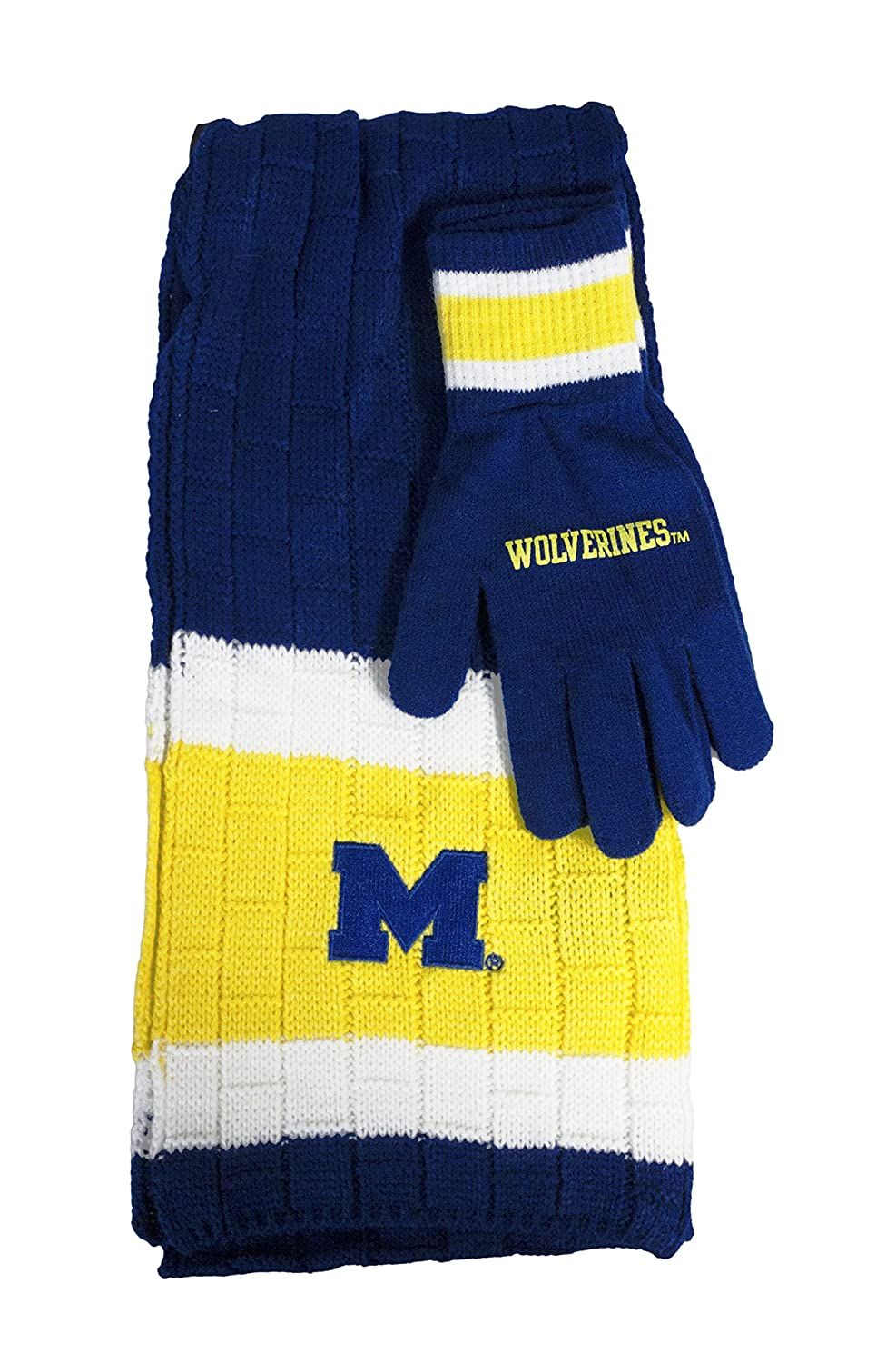Littlearth NCAA Team Color Knit Scarf and Glove Gift Set