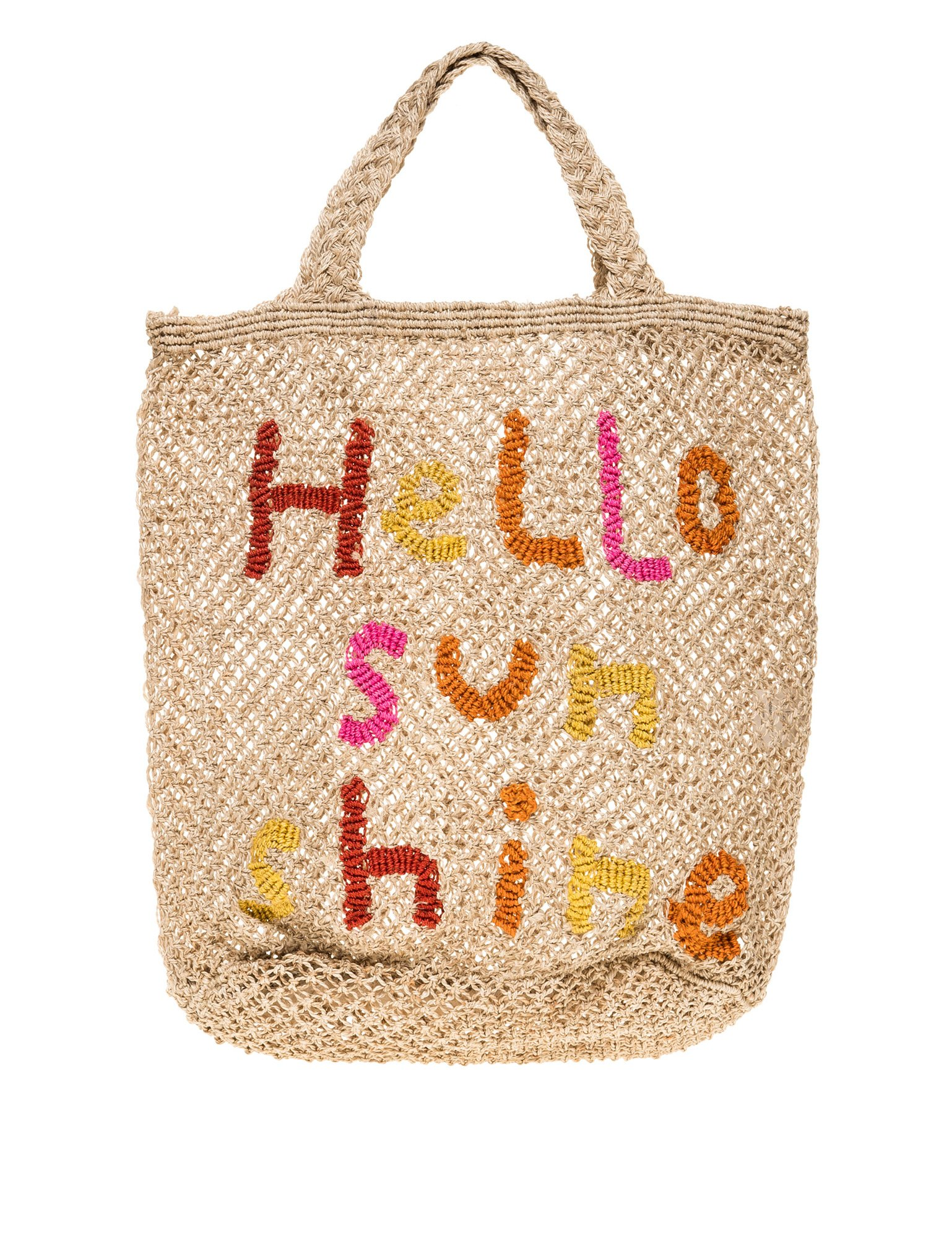The Jacksons Women's Hello Sunshine Women's Beige Jute Bag Beige