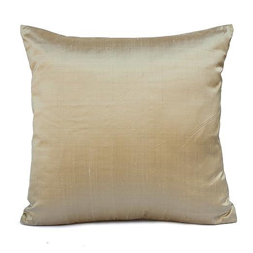 Luz marrón seda manta decorativa Funda de almohada, moderno ...