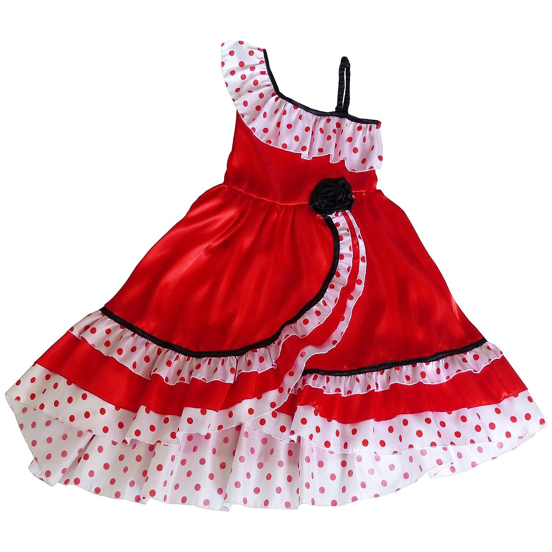 César - Disfraz de sevillana para niña, talla 5-7 años (F231-002 ...