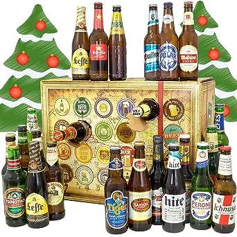 Geschenke Weihnachtskalender.Bier Adventskalender Welt Mit Ichnusa Anima Sarda Leffe Tiger Mehr Ein Tolles Geschenk Für Männer Bierset Geschenk Biersorten
