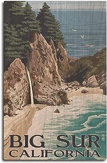 product image for Lantern Press Big Sur, California - McWay Falls (10x15 Wood Wall Sign, Wall Decor Ready to Hang)