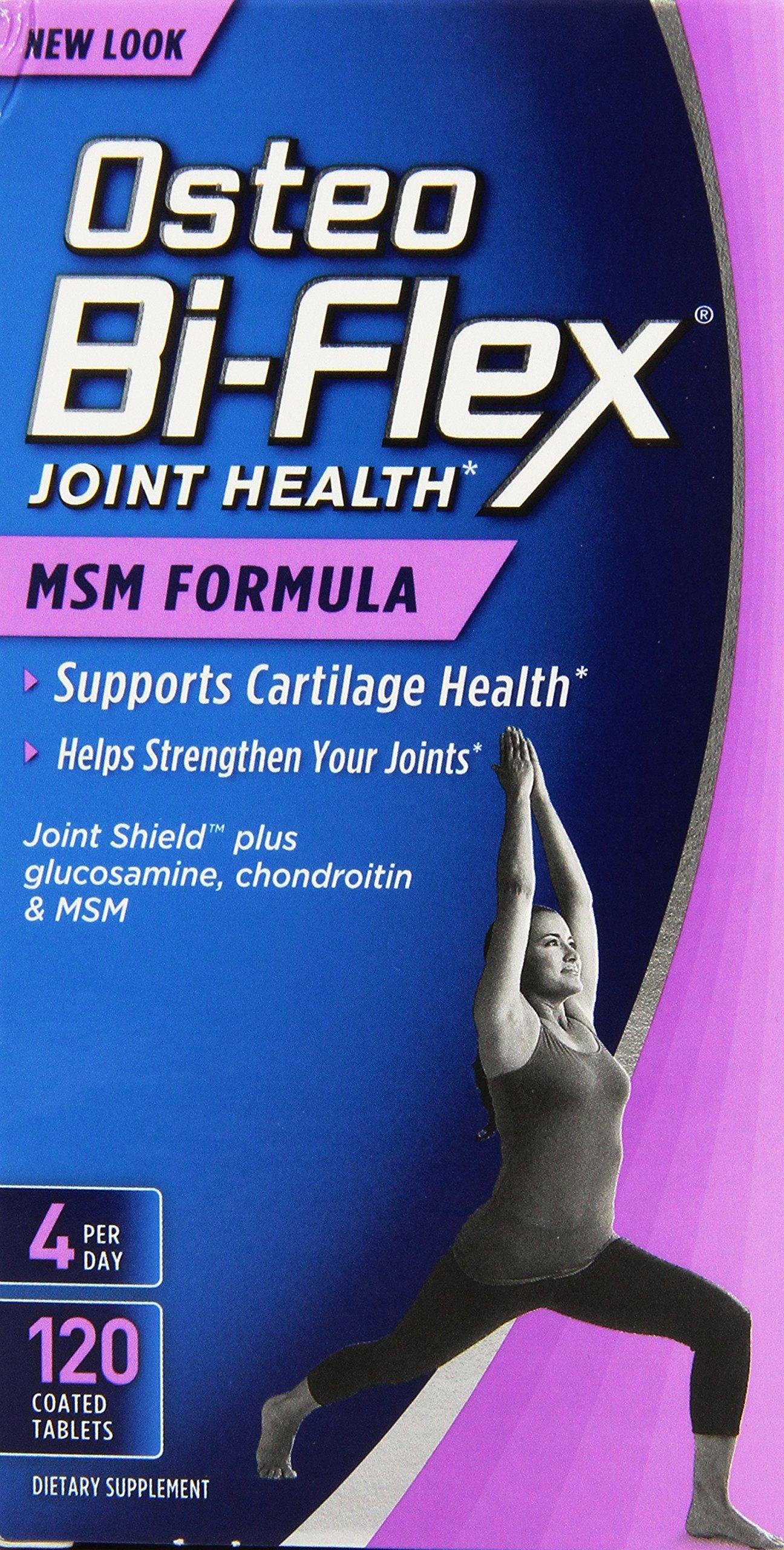 Sundown Osteo Bi-Flex Advanced MSM, 120 Coated Caplets (Packaging May Vary)
