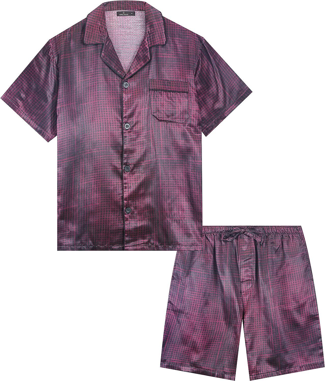 Noble Mount Satin Pajamas for Men - Short Pajama Set