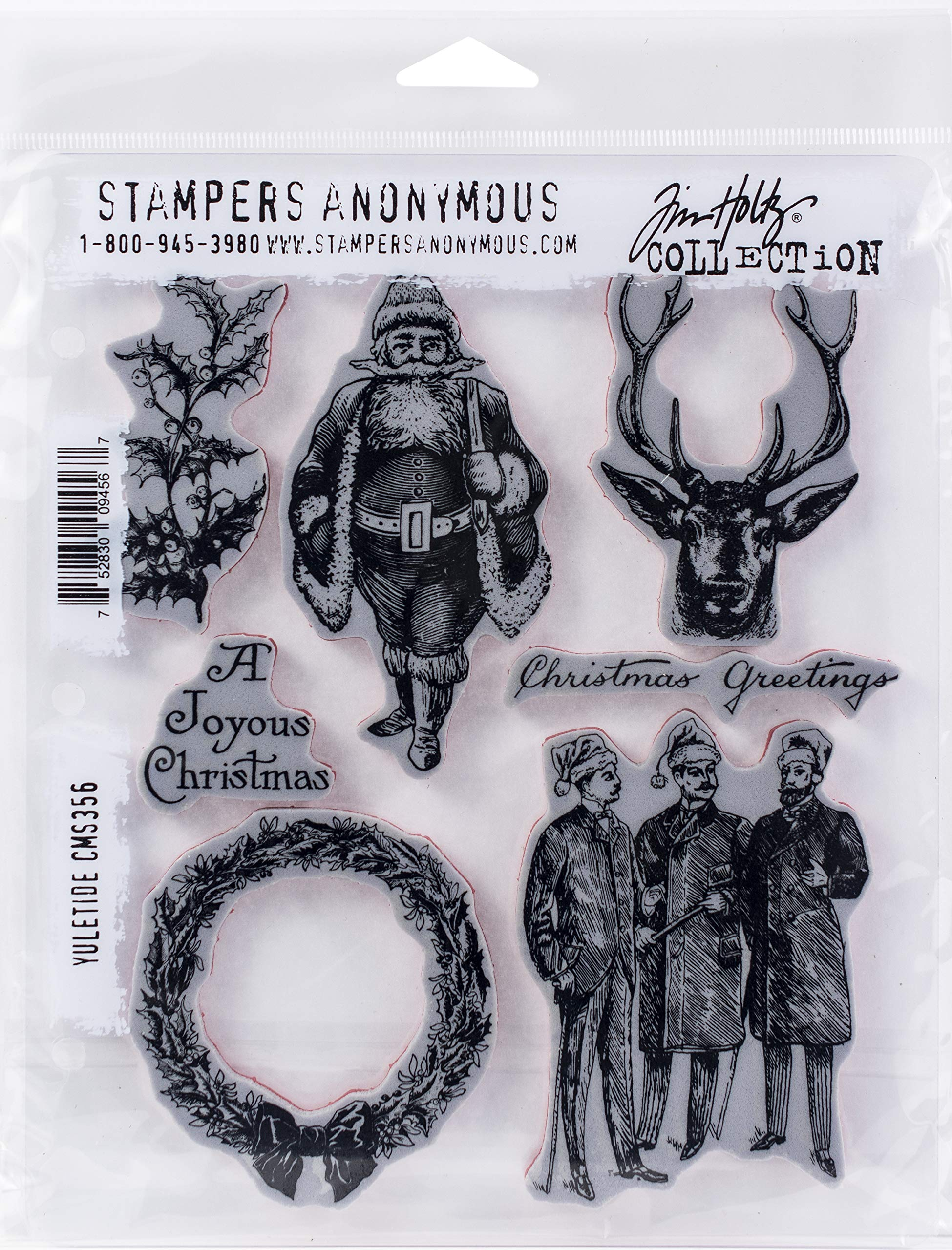 Stampers Anonymous CMS356 ClingStamp TH Yuletide by Stampers Anonymous