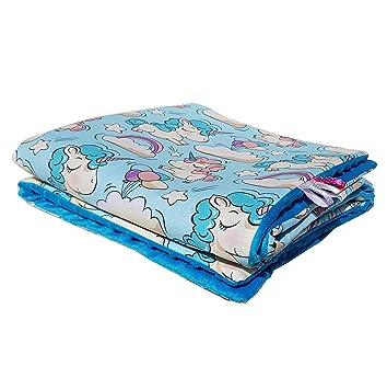 Decke mit Einhorn Babydecke Kuscheldecke