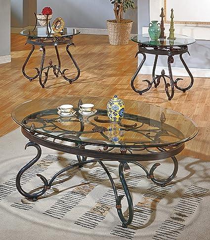 Steve Silver Lola 3 Piece Set (Coffee Table \u0026&; 2 End Tables) in & Amazon.com: Steve Silver Lola 3 Piece Set (Coffee Table \u0026amp; 2 End ...