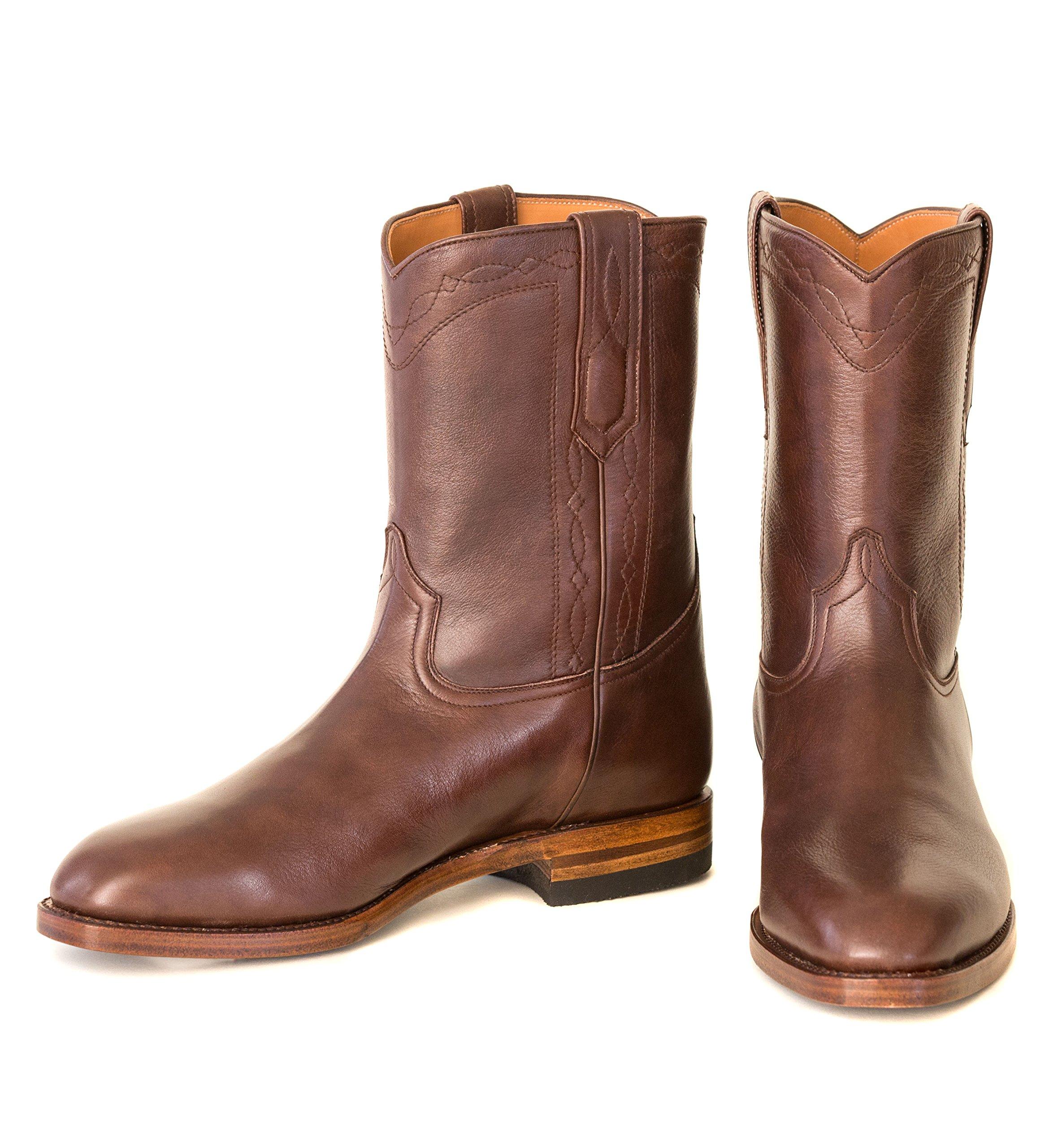 Ranch Road Boots Men's Bexar Cowboy Boot with Roper Heel US 7.5 Brown