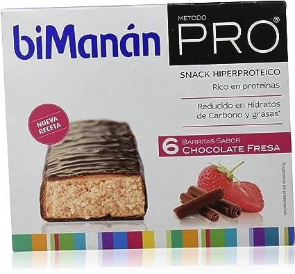 Bimanan Pro, Barritas de chocolate fresa, pack de 6