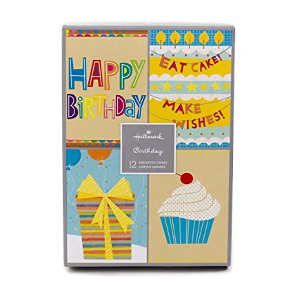 Assorted Birthday Greeting Cards Hallmark Icons 12 And Envelopes Amazonin Office Products