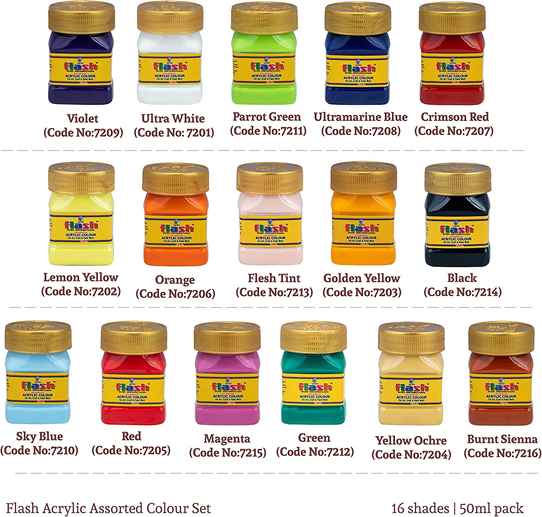 Amazon Promo Code for Flash Acrylic 16 Colours Set