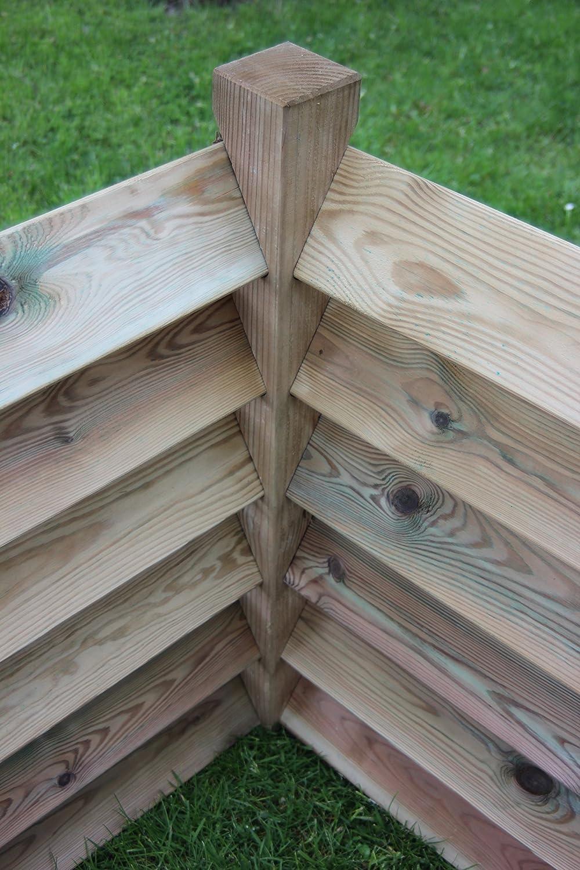 GartenDepot24 Compostador Doble, 6 Tapas para Postes, 188 x ...