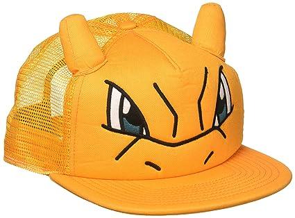 3f661779c5e Amazon.com  Bioworld Pokemon Charizard Big Face Trucker Snapback Hat ...