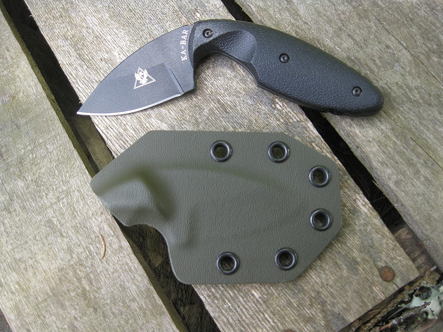 Valhalla Custom Kydex Sheath Ka-Bar TDI Small 1480 OD Green 2 pc