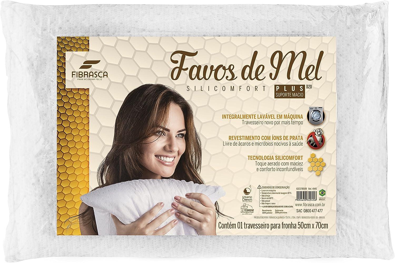 Fibrasca 4945 - Travesseiro Favos de Mel Plus para Fronhas Revestimento, Branco 50X70 Cm por Fibrasca