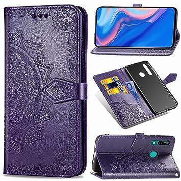 YKTO Huawei P Smart Z Carcasa Libro de Estuche Billetera PU ...