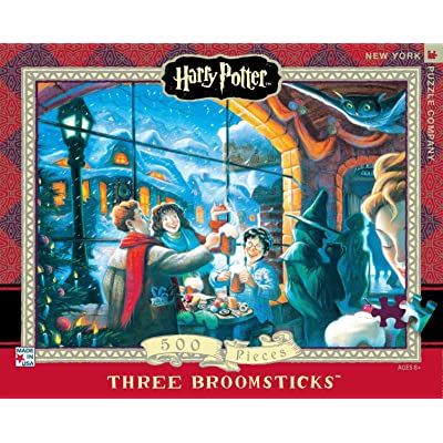 New York Puzzle Company - Harry Potter Three Broomsticks - 500 Piece Jigsaw Puzzle: Toys & Games