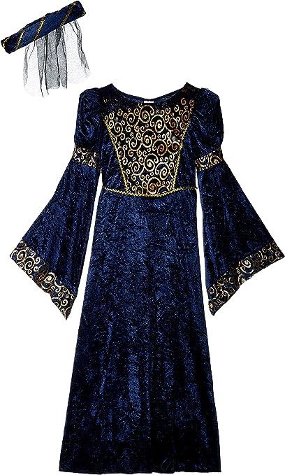 Renaissance Medieval Royal Maiden Princess Girls Child Costume