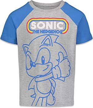 Kids Boys Girls Cartoon SonIc 100/% Cotton Tee Shirts Pullover Top Birthday Gift