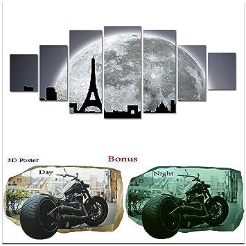 Amazon.com: Startonight Large Canvas Wall Art Bundle Abstract Black ...