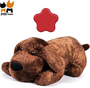 Puppyknow Puppy Behavioral Training Aid Toy for Anxiety Relief, Heartbeat Toy with Automatic Timing for Smart Dogs Cats, Newborn Puppies Sleep Aid Separation Anxiety