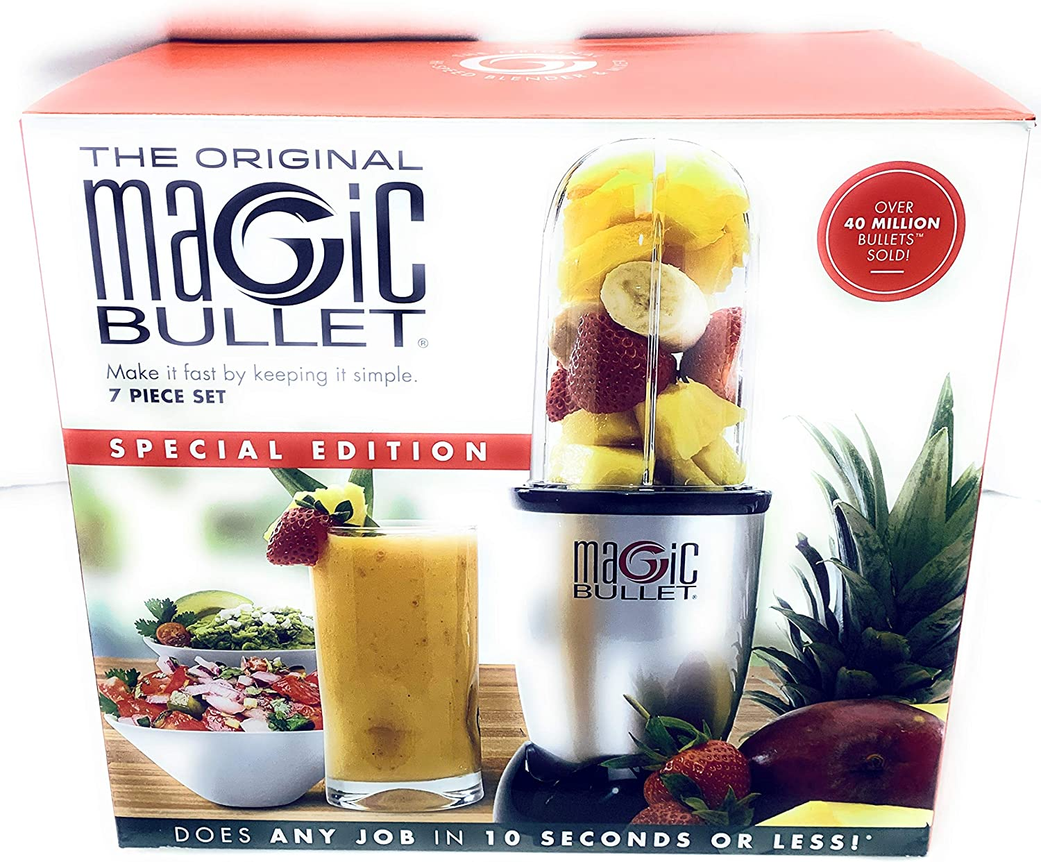The Original magic Bullet Batidora de edición especial (7 piezas ...