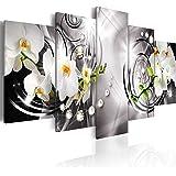 murando - Quadro 200x100 cm - 5 Parti - Quadro su tela fliselina - Stampa in qualita fotografica - Fiori Orchidea Perle Diamant b-A-0257-b-p