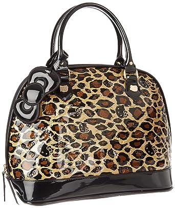 514a9dae6 Hello Kitty SANTB0616 Satchel, Black/Brown/Gold, One Size: Handbags ...