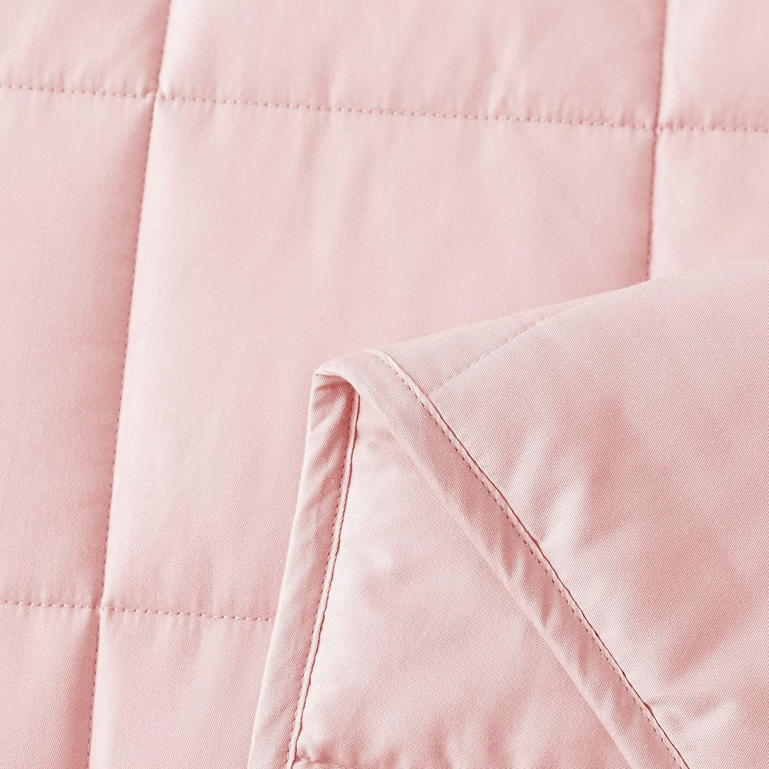 Shell Pink, 41x60 10lbs High Degrees of Breathability Best Adult Heavy Calming Blanket Cosymax Weighted Blanket 3.0,100/% Soft Sensory Cotton,High Density Glass Beads Filling