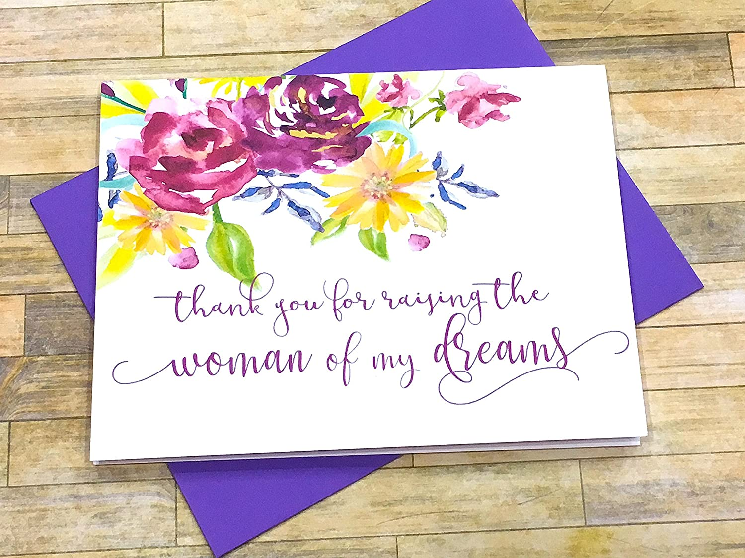 Amazon Thank You For Raising The Man Of My Dreams Card For
