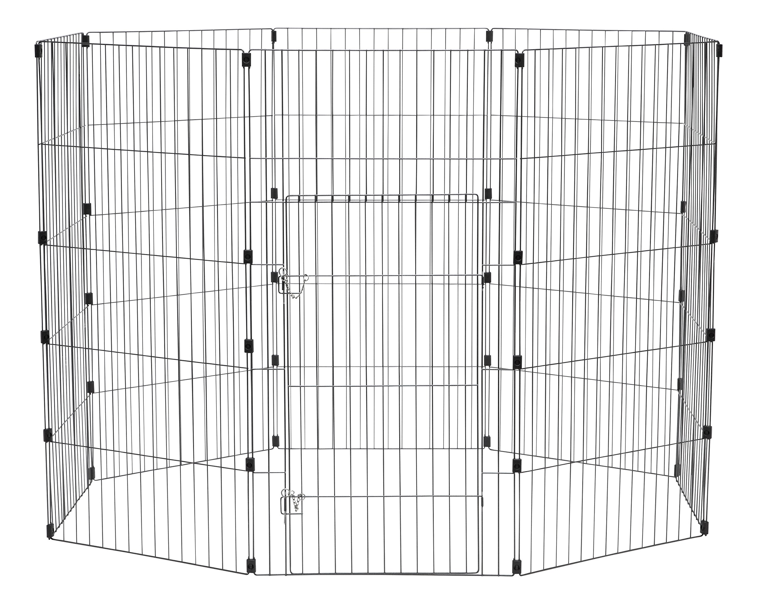 IRIS Wire Exercise Pet Pen, 48-Inch, Silver