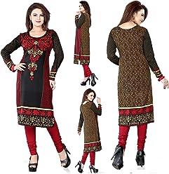 Unifiedclothes Women Fashion Casual Long Indian Kurti Tunic Kurta Top Shirt Dress 113A