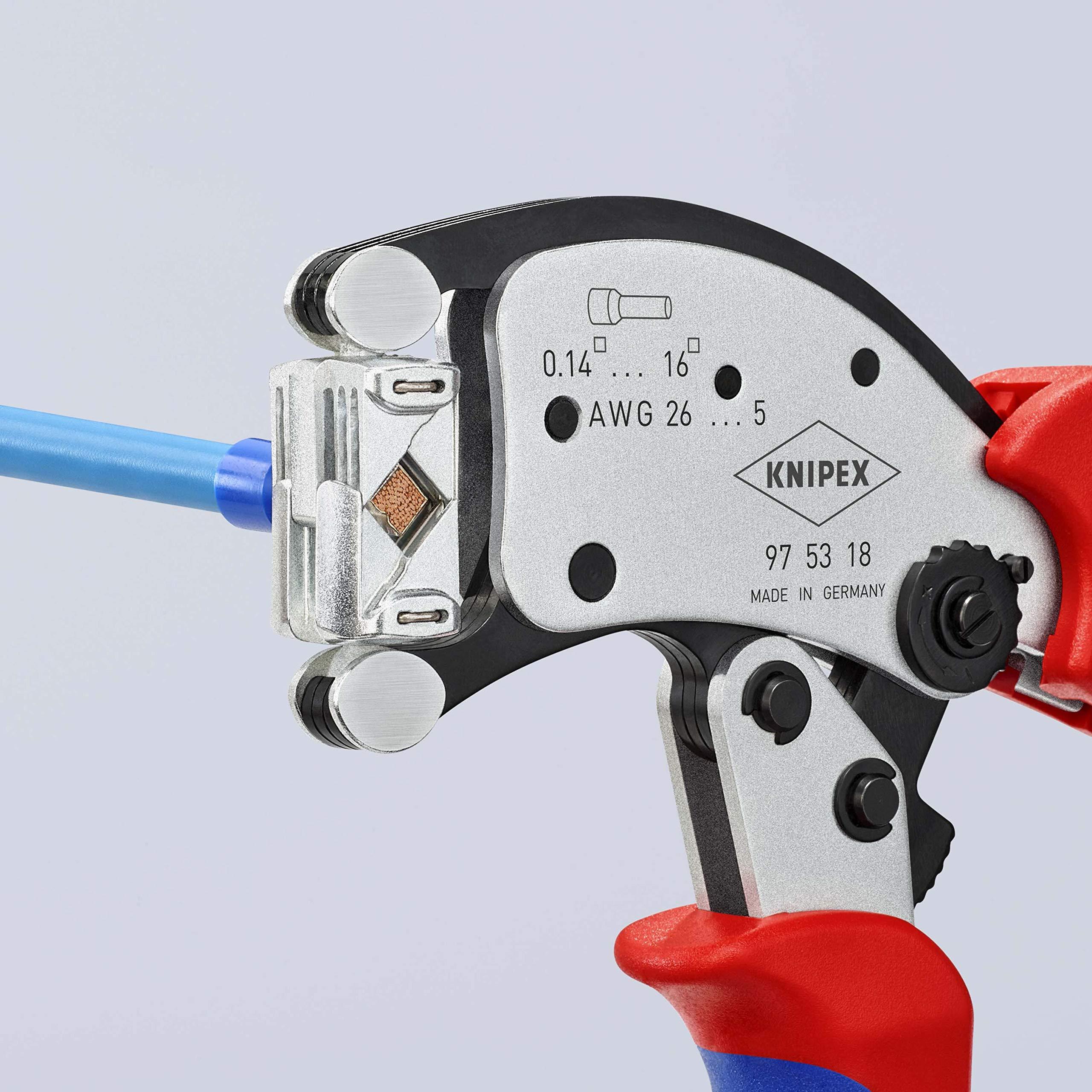 2465052-Knipex-97-53-18-Twistor16-Pinza-per-terminali-a-Bussola-con-Regolazion miniatura 3
