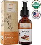 100% Pure USDA Certified ORGANIC Premium Moroccan Argan Oil 4oz. Orchid and Temple is MADE IN THE USA. Cold Pressed and Unrefined. Hair Repair, Moisturizer, Face Exfoliator, Nail Strengthening