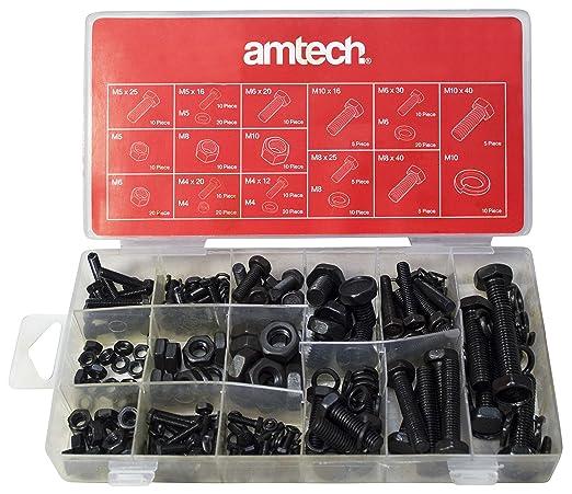 5 opinioni per Am-Tech- Set di dadi e bulloni, 240 pezzi