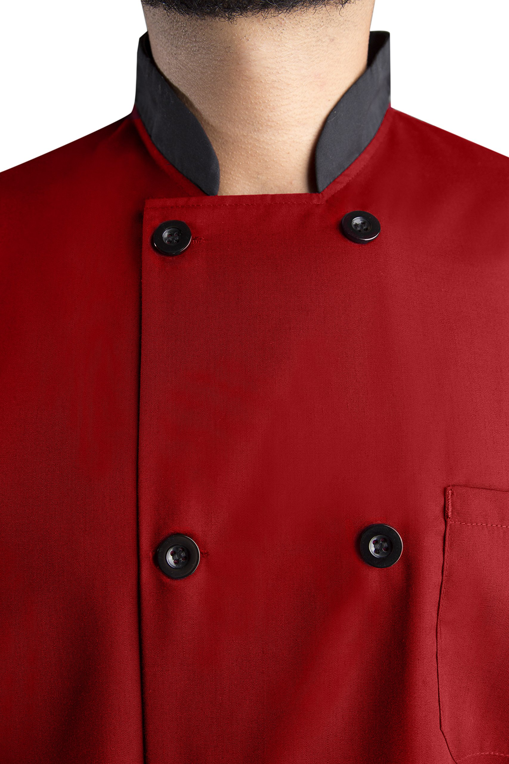 Happy Chef Lightweight Chef Coat, Medium, Red by Happy Chef