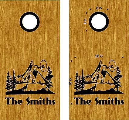 Amazon.com: StickerChef Cornhole Boards Decals Skins Nature ...