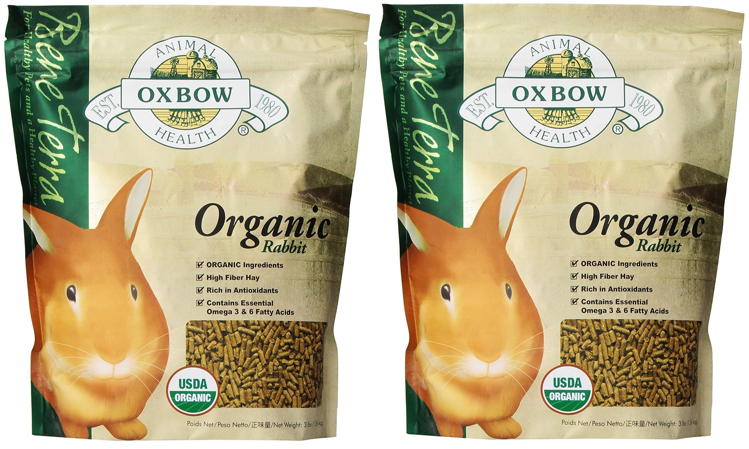 (2 Pack) Oxbow Bene Terra Organic Rabbit Food, 3 lb
